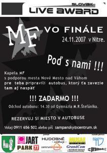 Tak a je to tu!!! - finále hudobnej súťaže Slovak Live Award