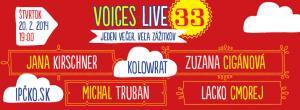Jana Kirschner vystúpi na Voices Live 33