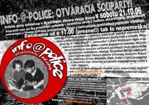 INFO-@-POLICE: Otváracia solipárty!