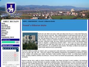 Nový beckovský web