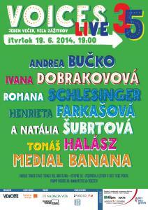 Andrea Bučko, Medial Banana, Ivana Dobrakovová a ďalší na júnovej Voices Live
