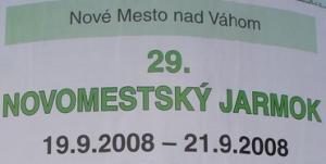 Novomestský Jarmok 2008 - program